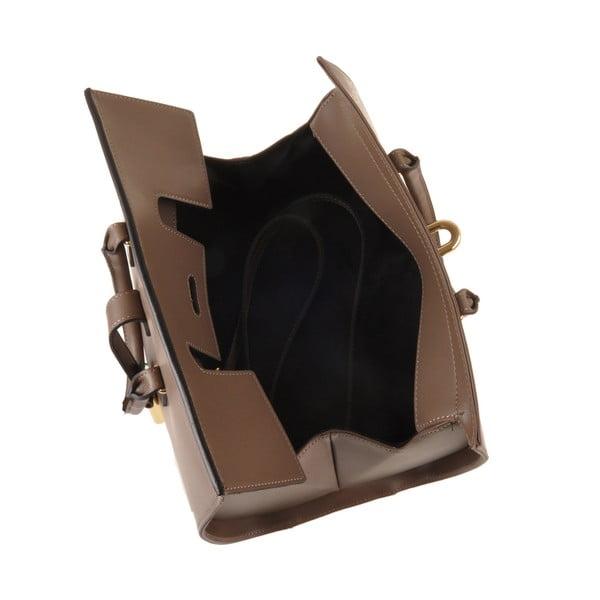 Kožená kabelka Emilio Masi Dabo, hnědá