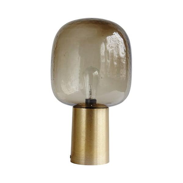 Stolní lampa Note, hnědé stínítko