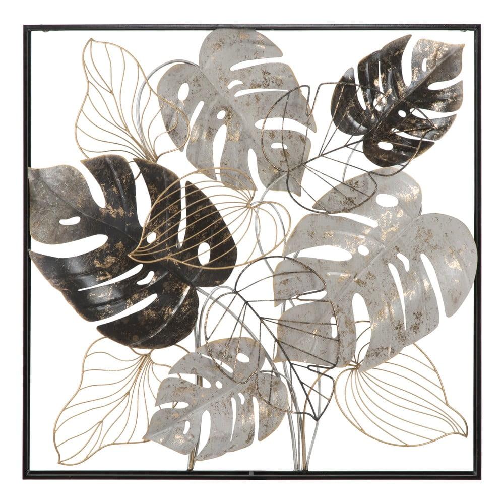 Nástěnná kovová dekorace Mauro Ferretti Leaf, 80,5x80,5cm