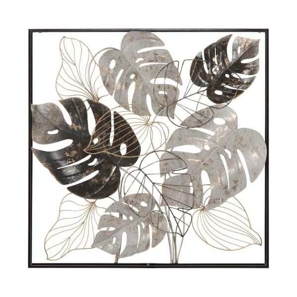 Decorațiune metalică pentru perete Mauro Ferretti Leaf, 80,5x80,5cm