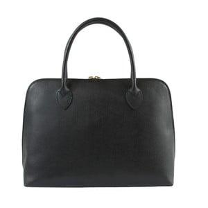 Černá kožená kabelka Chicca Borse Lady