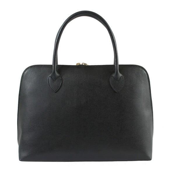 Černá kožená kabelka Chicca Borse Chunli