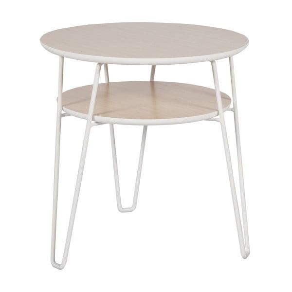 Konferenční stolek s bílými nohami RGE Leon, ⌀50cm