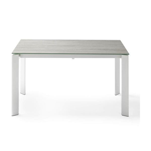 Šedo-bílý rozkládací jídelní stůl sømcasa Tamara Blaze, délka 160/240 cm