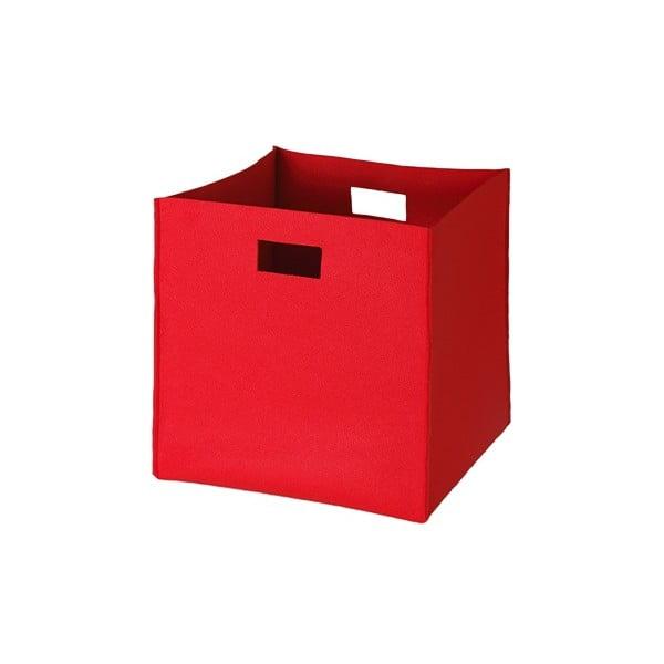 Plstěná krabice 36x35 cm, červená