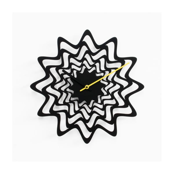 Nástěnné hodiny Flux, černé