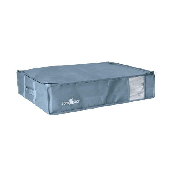 Modrý úložný box na oblečení pod postel Compactor XXL Blue Edition 3D Vacuum Bag, 145 l