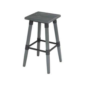 Šedá stolička z elmového dřeva a kovu VIDA Living Loc