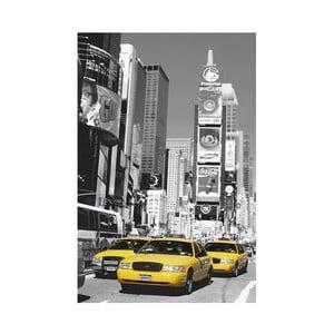 Jednodílná fototapeta Žluté taxi (Times Square), 115 x 175 cm