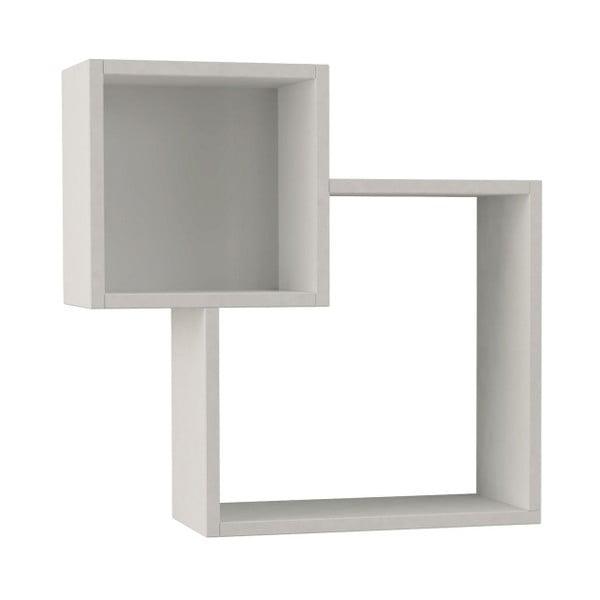Etajeră perete Diamond White, alb