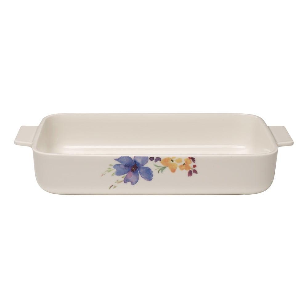 Bílá porcelánová zapékací mísa Villeroy & Boch Mariefleur Basic, 30 x 20 cm