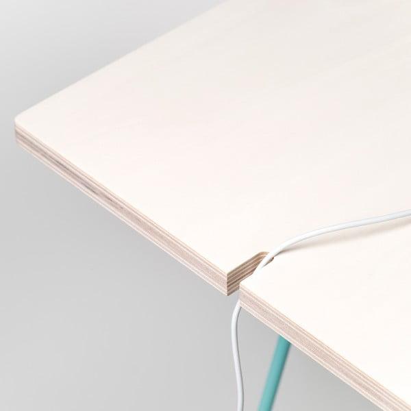 Deska stolu Studio - bělené dřevo, 130x60 cm