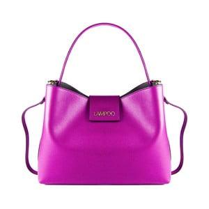 Fuchsiová kožená kabelka Lampoo Pango
