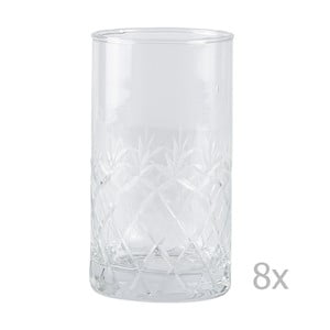 Set 8 pahare Villa Collection Glass, 250 ml