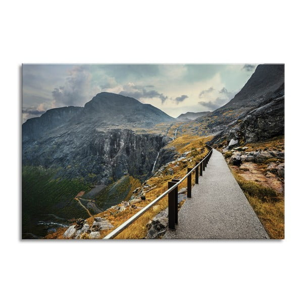 Obraz Styler Glasspik Views Norway Mountains, 80 x 120 cm