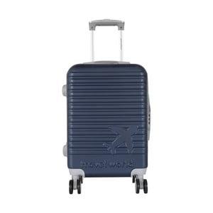 Tmavě modré kabinové zavazadlo na kolečkách Travel World Aiport, 44l