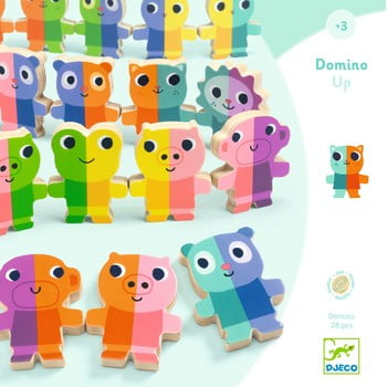 Domino 3D din lemn Djeco poza