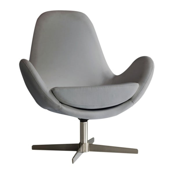 Jasnoszary fotel Design Twist Atene