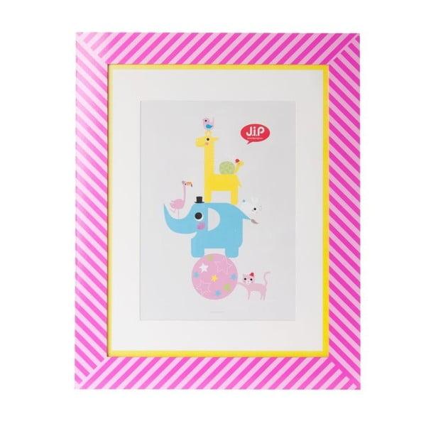Fotorámeček s obrázkem Happy Pink, A3