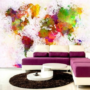 Velkoformátová tapeta Artgeist Watercolor World, 400x280cm