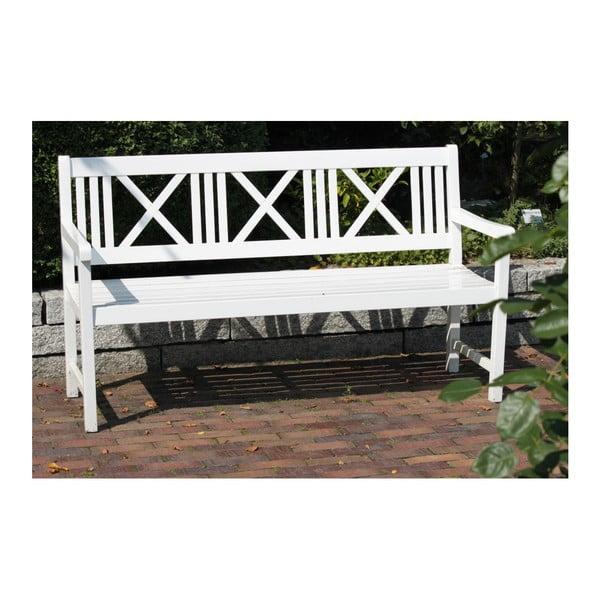 Zahradní trojmístná lavice z eukalyptového dřeva ADDU Malmo