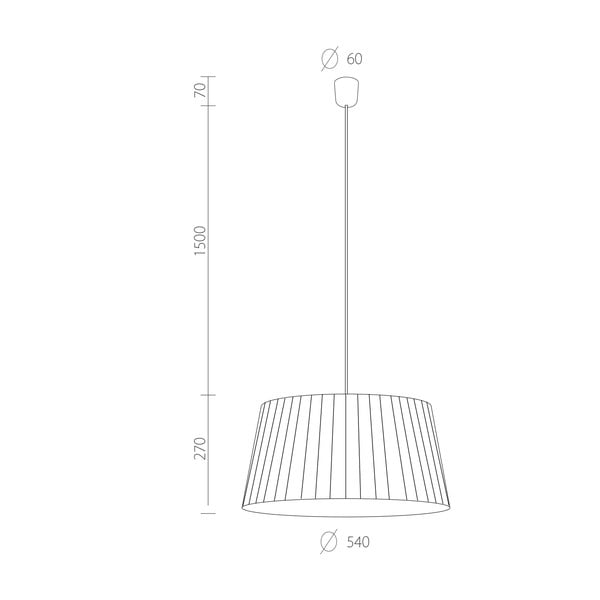 Světlo Kami XL, ecru/černý kabel