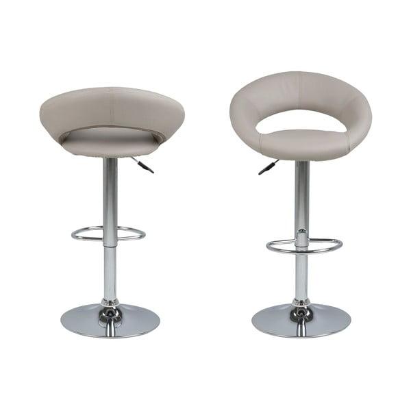 Šedá barová židle s nastavitelnou výškou Actona Plump