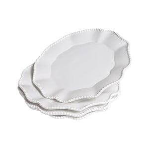 Sada talířů Parma, 4 ks, bílé
