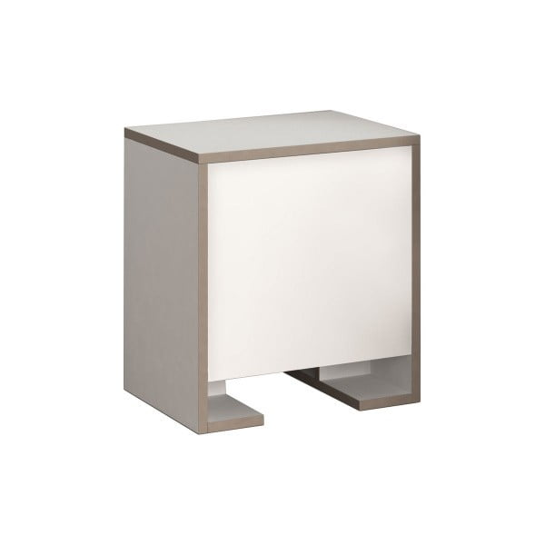 Bílý noční stolek Homitis Payti