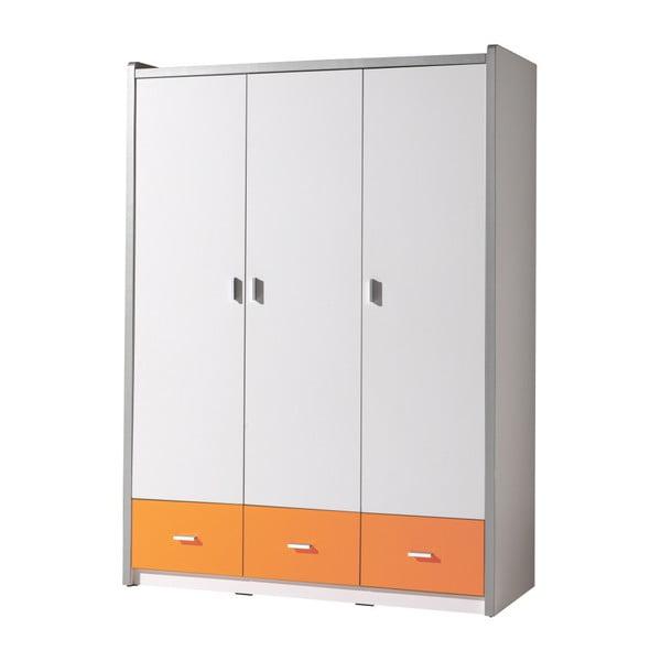 Dulap Vipack Bonny, 202 x 140,5 cm, alb - portocaliu