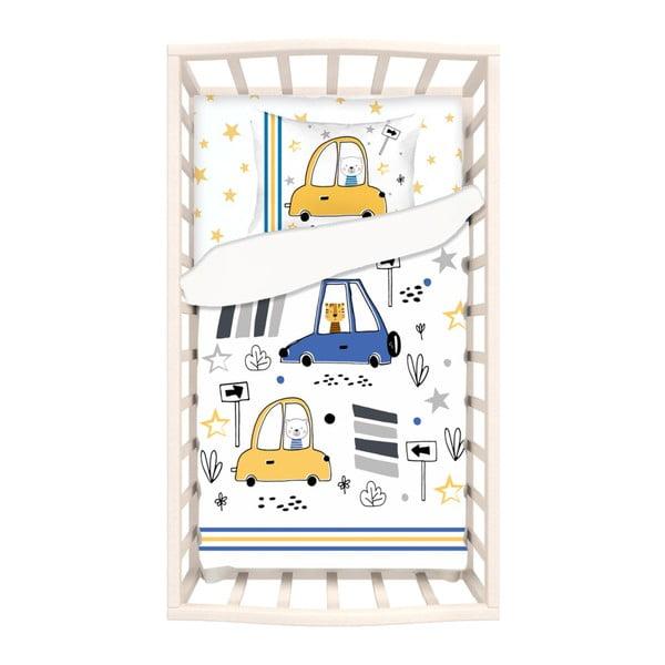 Mirra Fesso gyerek egyszemélyes pamut ágyneműhuzat lepedővel, 100 x 150 cm - Apolena