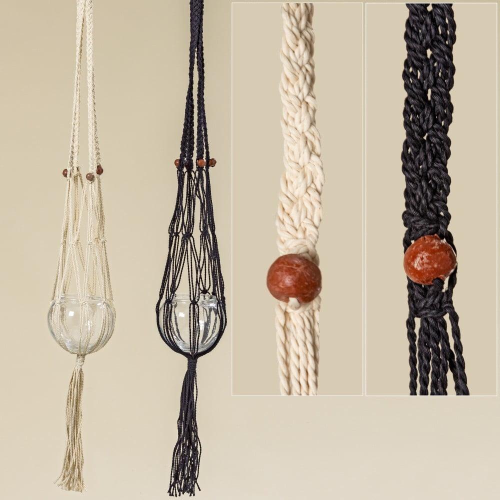 Sada 2 pletených závěsných dekorací Boltze Makrame