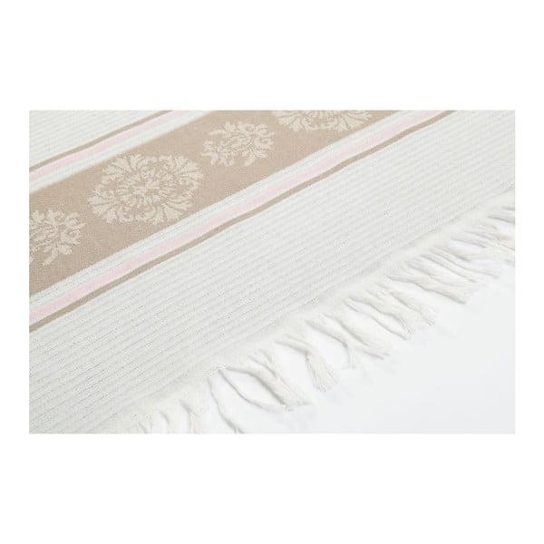 Prosop hammam Deco Bianca Loincloth Beige Stripe, 80 x 170 cm, maro - bej deschis