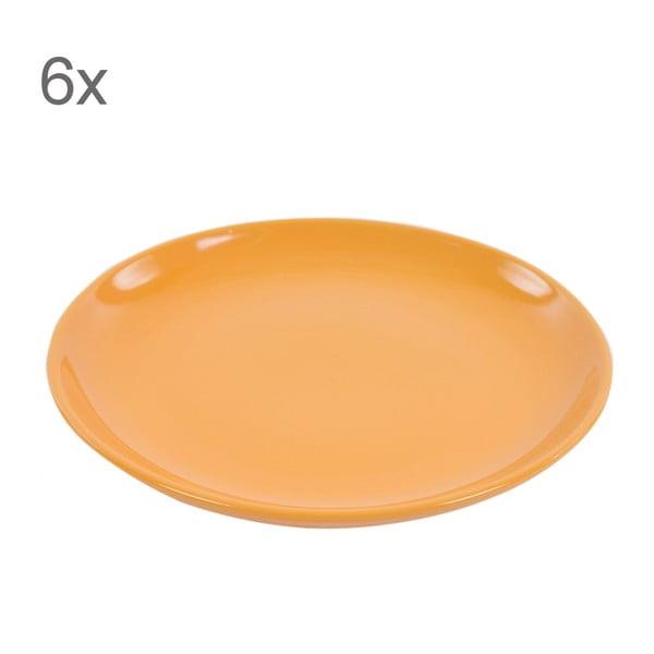 Sada 6 dezertních talířů Kaleidos 21 cm, oranžová