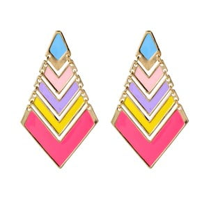 Náušnice Chevron Pop Pastel Multi