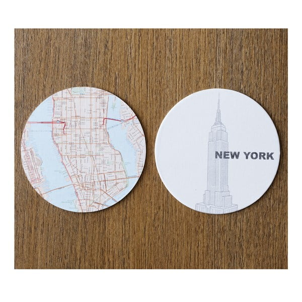 Sada 10 podtácků Design Ideas MapCoasters New York
