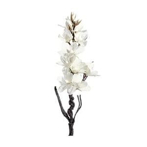 Umělá květina s bílými květy Ixia Folami, výška122cm