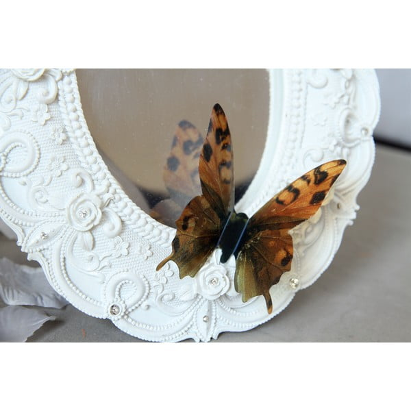 Sada 18 hnědých adhezivních 3D samolepek Ambiance Butterflies Chic