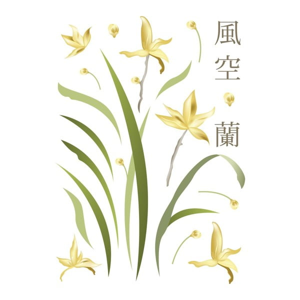 Samolepka Yellow Flowers