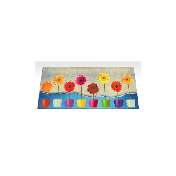 Vysokoodolný kuchynský koberec Webtapetti Flower Power, 60×115 cm