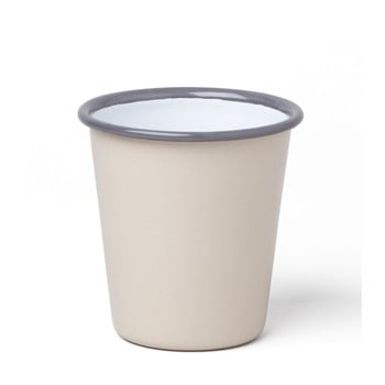 Pahar smălțuit Falcon Enamelware, 250 ml, bej