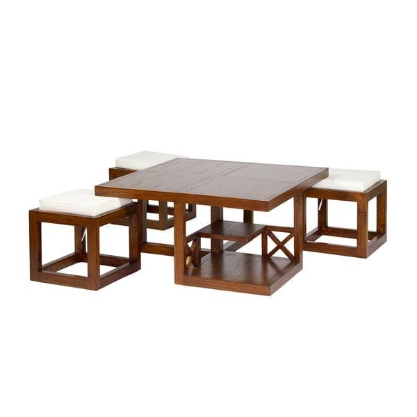 Ara dohányzóasztal 3 székkel - Santiago Pons