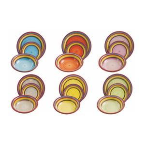 18dílná sada barevného nádobí z kameniny Villa d'Este Sombrero