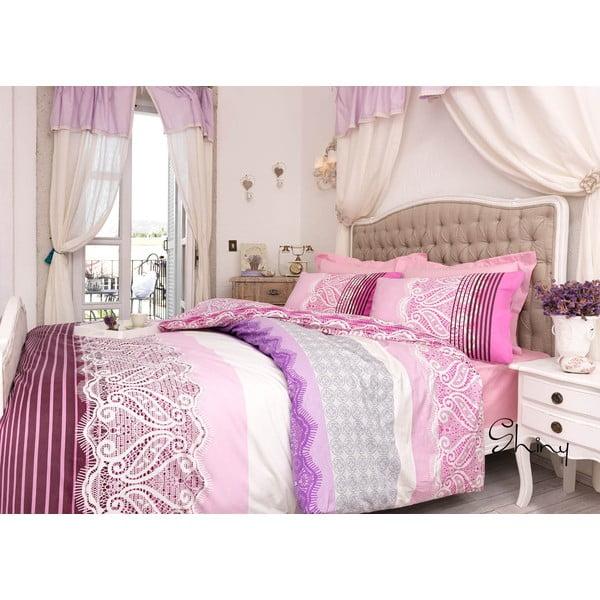 Povlečení Shiny Pink, 220x230 cm