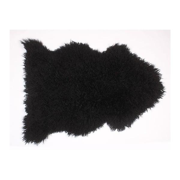 Ovčí kožešina Curly Black, 90 cm