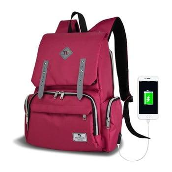 Rucsac maternitate cu port USB My Valice MOTHER STAR Baby Care, roz imagine