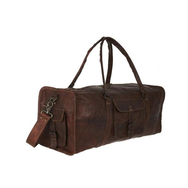 """Pánská kožená taška Duffel Bag 22"""""""
