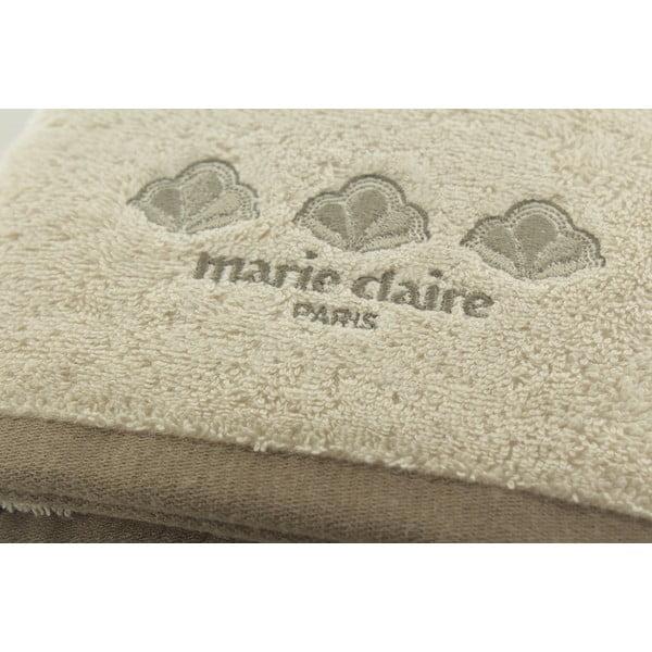 Béžový ručník Marie Claire, 50 x 90 cm