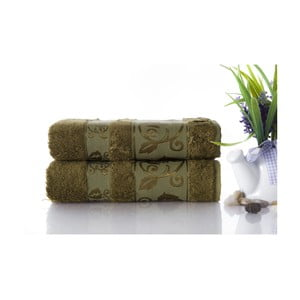 Set dvou ručníků Bamboo Green, 50x90 cm