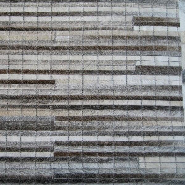 Kožený koberec Instant Grey, 140x200 cm